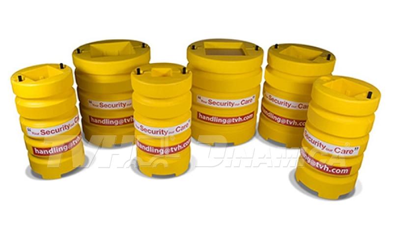 Protetores de colunas para galpões em operações com empilhadeiras