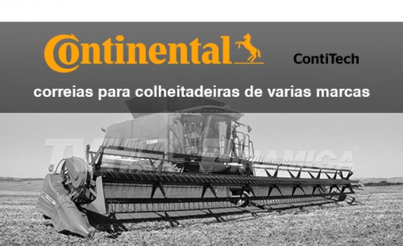 Correias Continental Contitech para colheitadeiras de várias marcas