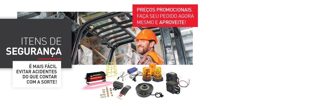 Itens de Segurança com preços promocionais!